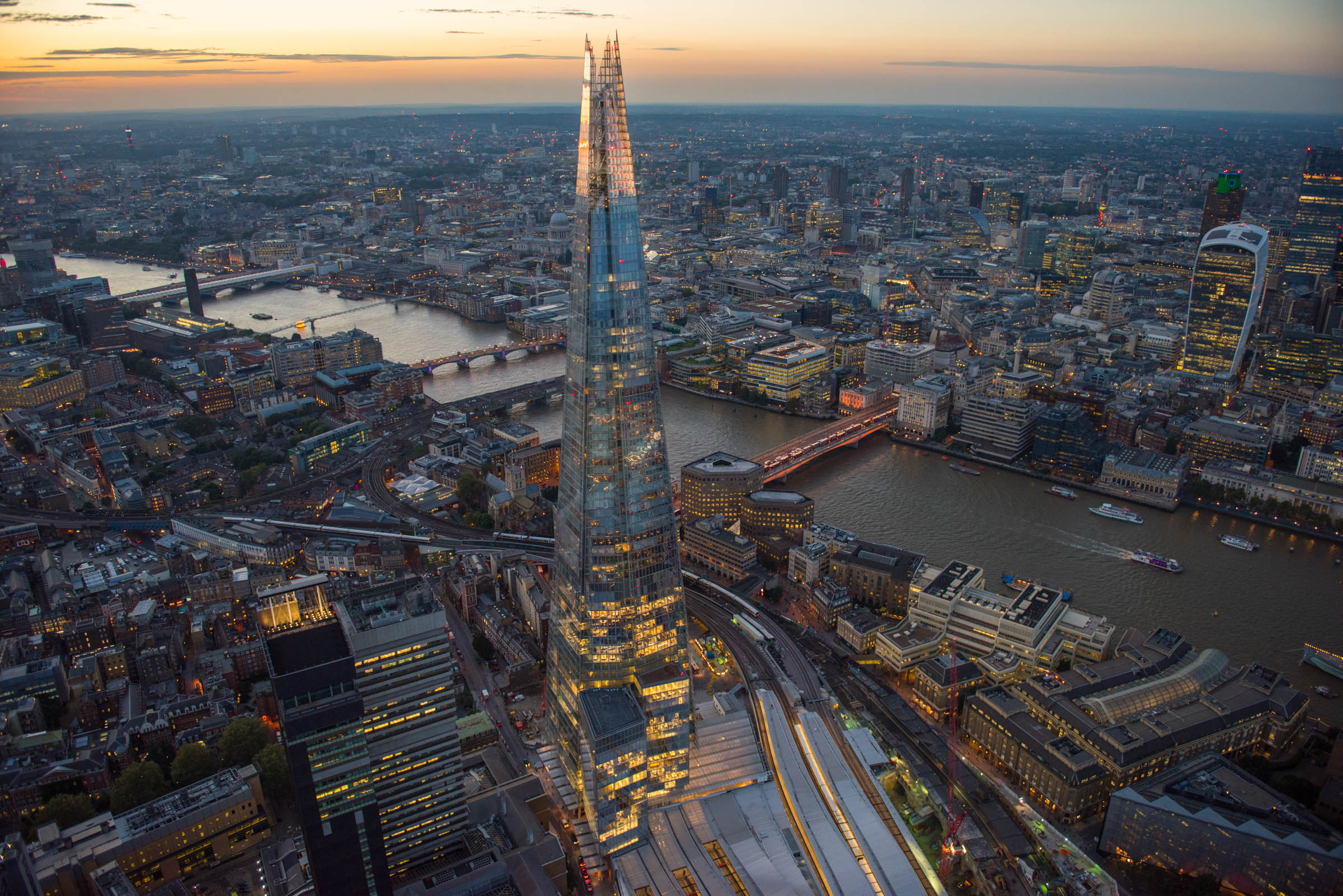 The Shard and River Thames. Date : September 2016