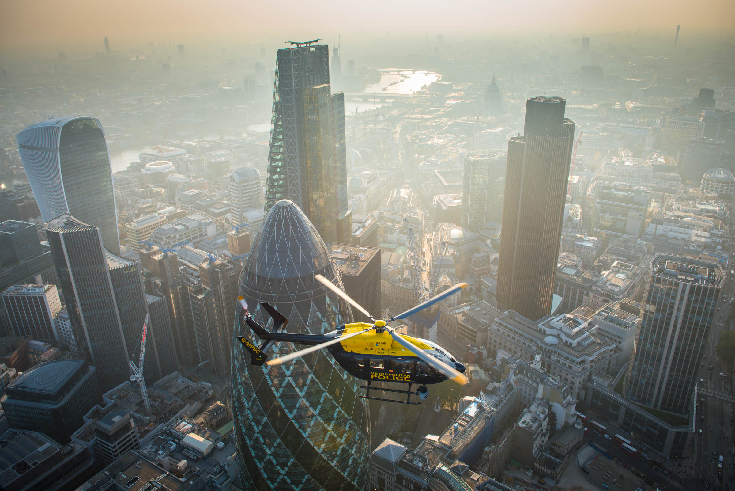 G-MPSC police helicopter over City of London