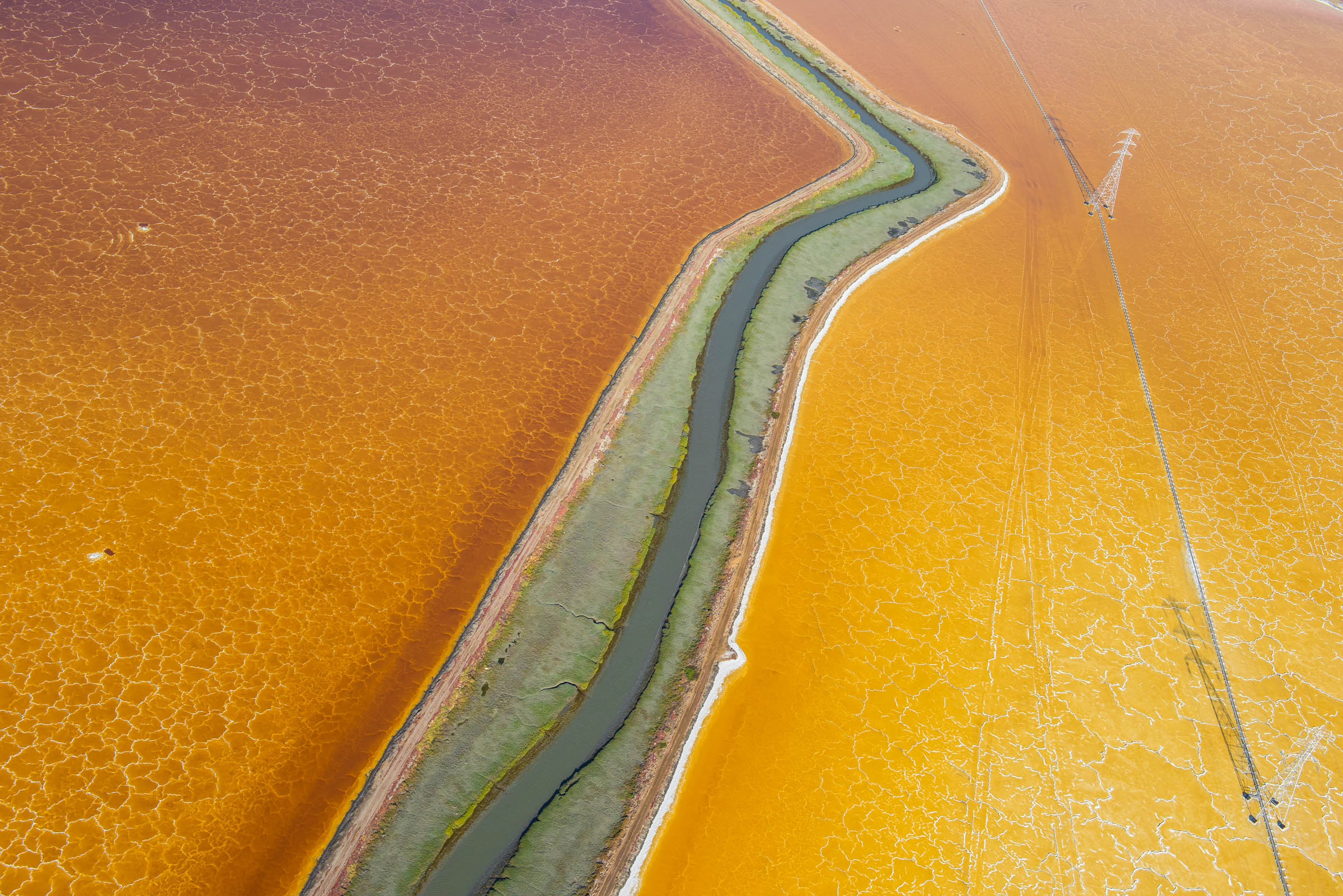 San Francisco Bay salt ponds.